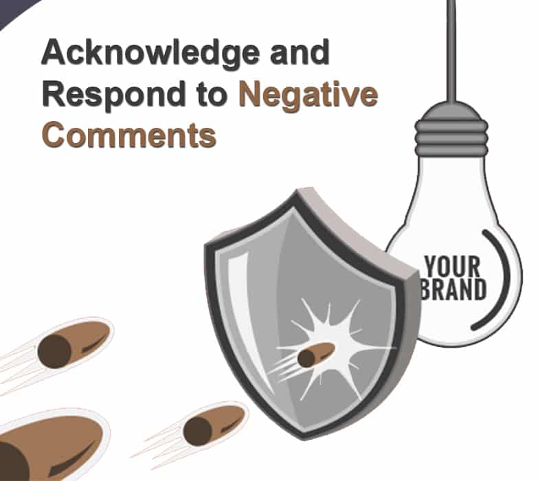 Acknowledge and Respond to Negative Comments
